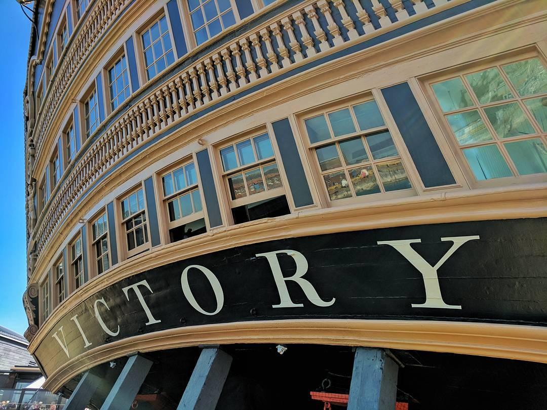 HMS Victory basking in the sun. #portsmouth #historicdockyard #royalnavy